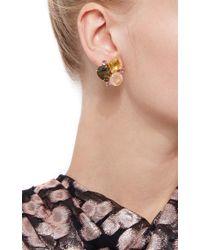 Bounkit | Multicolor Lemon Quartz, Rose Quartz, Labradorite And Amethyst Earrings | Lyst