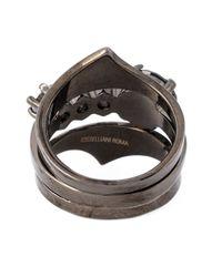 Iosselliani - Metallic 'black On Black Memento' Ring - Lyst