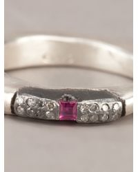 Rosa Maria - Pink Silver Treated Ring - Lyst