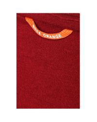 BOSS Orange Red Cotton T-shirt With V-neck: 'tooley' for men