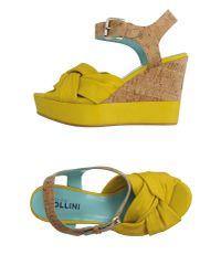 Studio Pollini - Yellow Sandals - Lyst