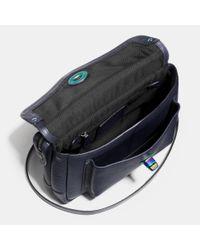 COACH - Blue Rhyder Crossbody In Oil Slick Rivets Leather - Lyst