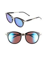 Wildfox - Black 'sunset Deluxe' 48mm Retro Sunglasses - Lyst