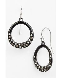 Alexis Bittar | Black 'miss Havisham - Liquid' Drop Earrings - Gunmetal | Lyst