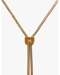 Halston - Metallic Lariat Necklace - Lyst
