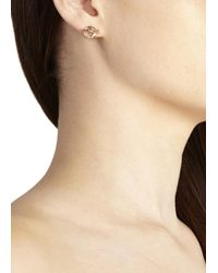 Marc By Marc Jacobs Pink Rose Gold Tone Toggle Earrings