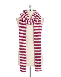 Portolano | Pink Striped Knit Scarf | Lyst