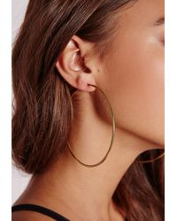 Missguided - Metallic Classic Gold Hoops - Lyst