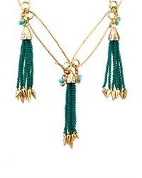 Lulu Frost | Green Nomadic Tassel Necklace | Lyst