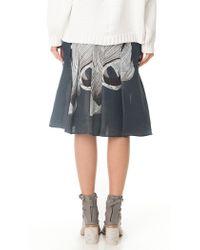 Tibi - Blue Midori Silk Asymmetric Skirt - Lyst
