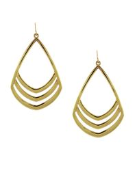 Vince Camuto | Metallic Goldtone Open Teardrop Earrings | Lyst