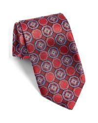JZ Richards - Red J.z Richards Medallion Silk Tie for Men - Lyst