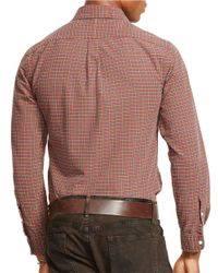 Polo Ralph Lauren | Red Checked Oxford Shirt for Men | Lyst