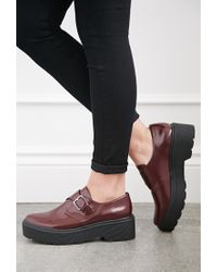 Forever 21 - Purple Lug-sole Monk Strap Loafers - Lyst