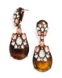 BaubleBar - Brown Pink Lady Tortoise Drops - Lyst