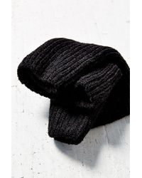 Urban Outfitters - Black Chenille Wide Rib Funnel Scarf - Lyst