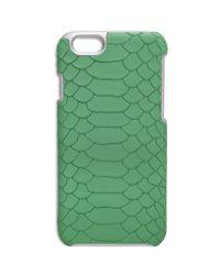 Gigi New York - Green Python-embossed Leather Iphone 6 Case - Lyst