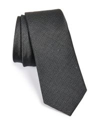 W.r.k. - Black Silk & Cotton Tie for Men - Lyst