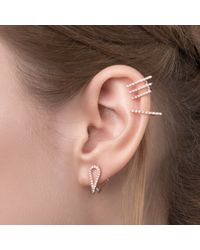 Astrid & Miyu - Metallic Teardrop Ear Jacket In Gold - Lyst