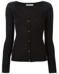 Prada - Black V-neck Cardigan - Lyst