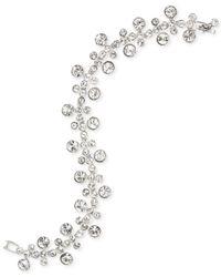 Givenchy - Metallic Rhodium-tone Crystal Flex Bracelet - Lyst