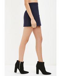 Forever 21 | Blue Buttoned Mini Skirt | Lyst
