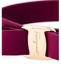 Ferragamo | Purple 'Vara' Bow Bracelet | Lyst