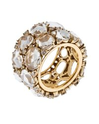 Pomellato - Multicolor Women's Lulu 18k Yellow Gold White Crystal Ring - Lyst