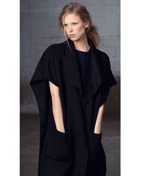 Tibi | Black Reversible Double Faced Wool Coat | Lyst