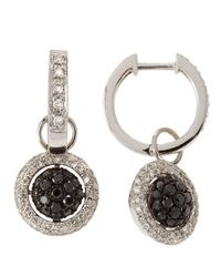 KC Designs | Metallic 14k Diamond Pave Hoop Round Drop Earrings | Lyst