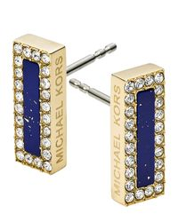 Michael Kors | Metallic Rectangular Stud Earrings | Lyst