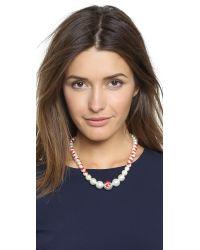 Venessa Arizaga   Te Amo Imitation Pearl Necklace - Red   Lyst