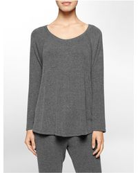 Calvin Klein - Gray Performance Jersey Top - Lyst