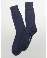Calvin Klein - Blue Underwear Bamboo Blend Flat Knit Dress Socks for Men - Lyst