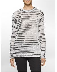 Calvin Klein | Multicolor Jeans Space-dyed Crewneck Sweater | Lyst