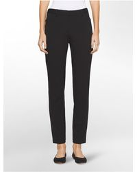 Calvin Klein   Black Slim Fit Solid Stretch Pants   Lyst