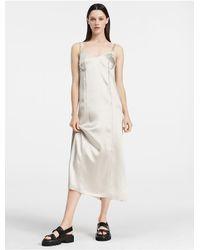 Calvin Klein | Multicolor Collection Fluid Satin Slip Dress | Lyst