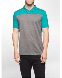 Calvin Klein | Blue Classic Fit Colorblock Pique Polo Shirt for Men | Lyst