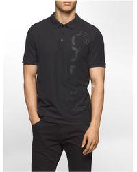 Calvin Klein | Black Classic Fit Logo Pique Polo Shirt for Men | Lyst