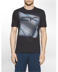 Calvin Klein | Black Terpol Printed Short Sleeve T-shirt for Men | Lyst