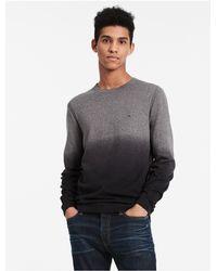 Calvin Klein   Gray Ombre Logo Sweater for Men   Lyst