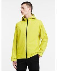 Calvin Klein | Yellow Performance Twill Jacket for Men | Lyst