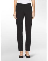 CALVIN KLEIN 205W39NYC - Black Slim Fit Solid Stretch Pants - Lyst