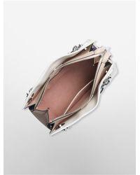 Calvin Klein - Multicolor Platinum Platinum Flared Satchel - Lyst