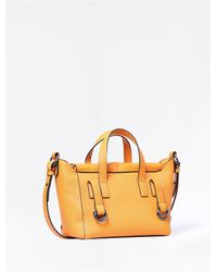 Calvin Klein | Orange Jeans Pebbled Leather City Satchel | Lyst