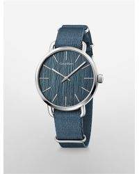 Calvin Klein | Blue Stainless Steel Watch for Men | Lyst