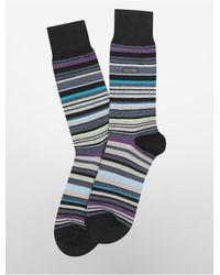 Calvin Klein - Blue Underwear Multicolored Stripe Socks for Men - Lyst