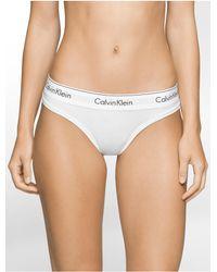 Calvin Klein - White Underwear Modern Cotton Thong - Lyst