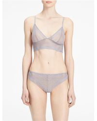 Calvin Klein - Gray Underwear Ombre Triangle Bralette - Lyst