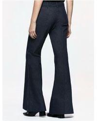 CALVIN KLEIN 205W39NYC - Blue Platinum Platinum Denim Flared Pants - Lyst